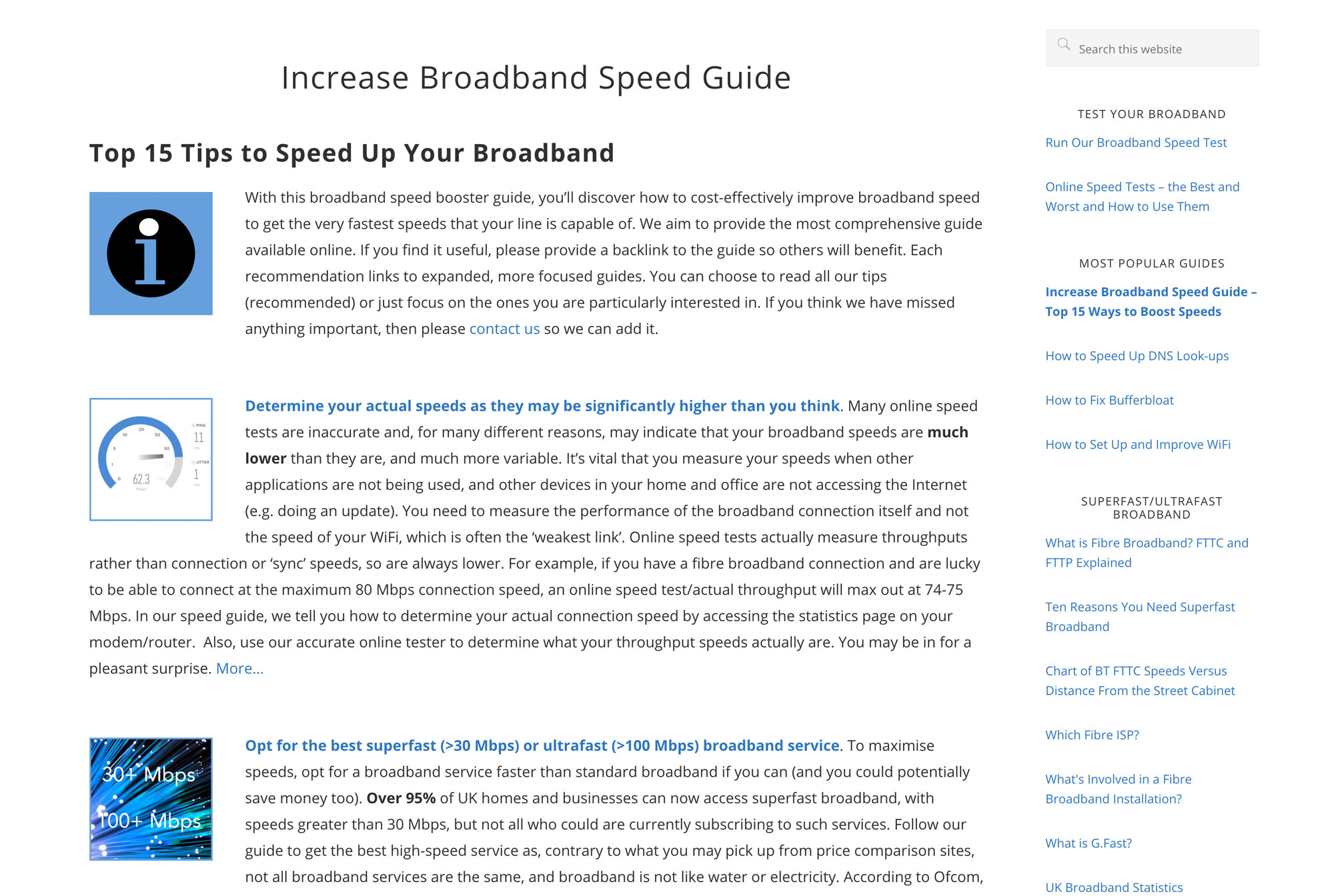 Increase Broadband Speed Guide