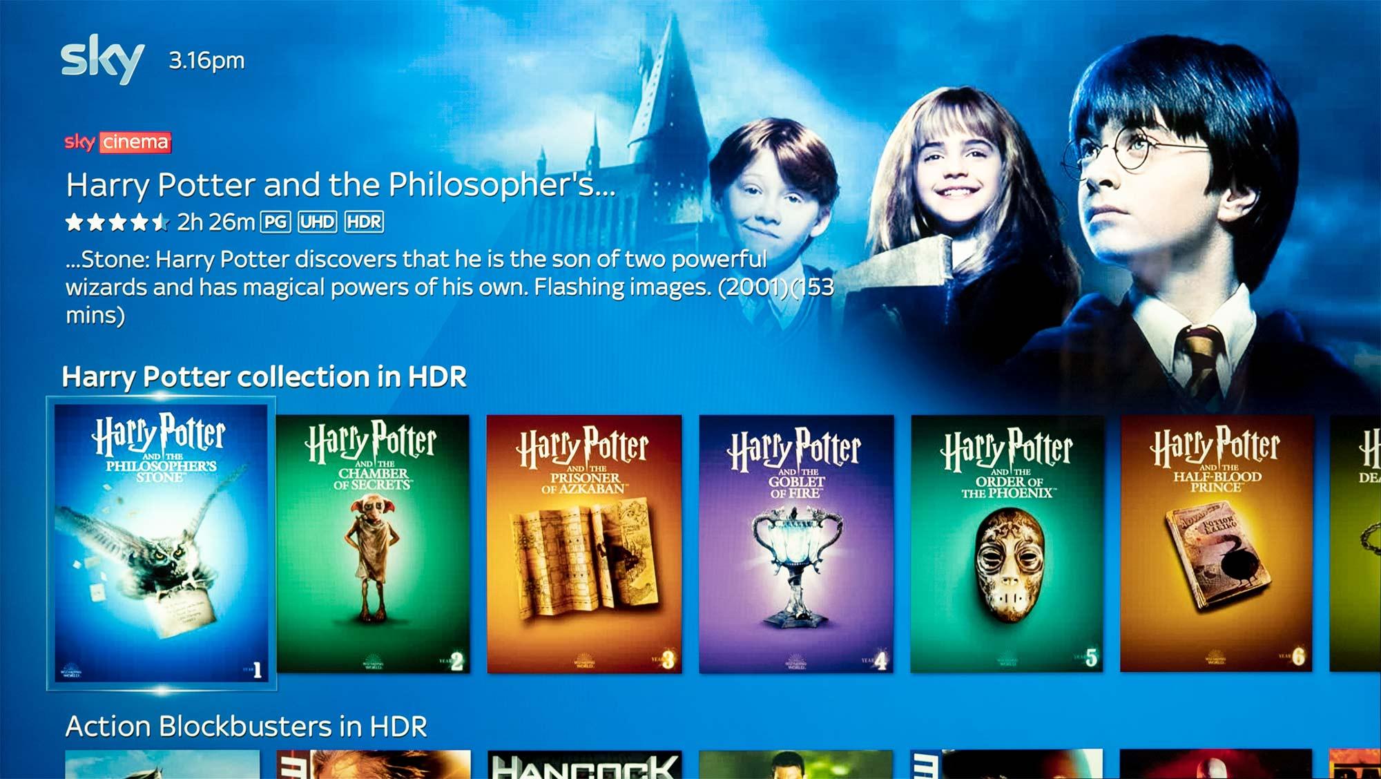 Harry Potter on Sky